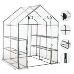 Greenhouse with 8 Shelves 143x143x195 cm