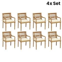 8X Garden Chairs